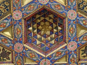 Ceiling detail, Khan's Palace, Kokand