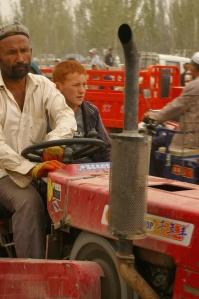Red-haired Uighur boy