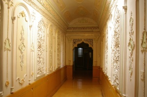 Interior of former British Consulate, Kashgar