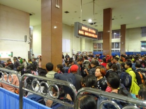 Chaos in the hard-class waiting area